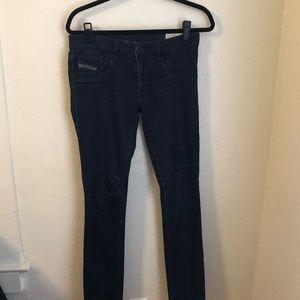 Diesel Jeans Bi-Bi SS Leggings in Dark Wash